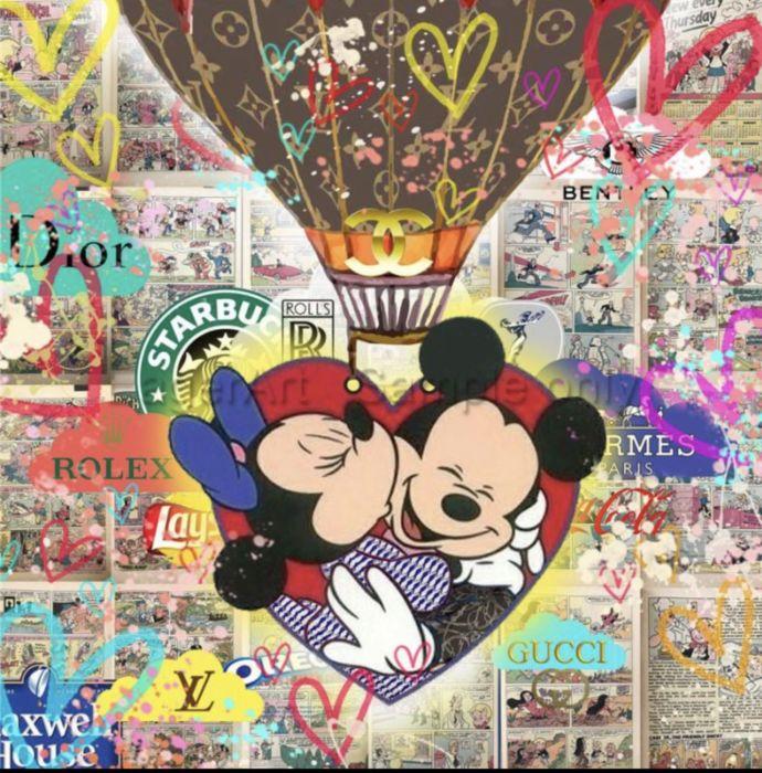 Mickey Mouse und Luis Vouitton