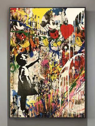 Streetart Mickey Mouse Gemälde