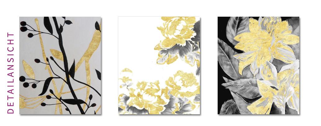 Oelgemaelde Blumen Gold